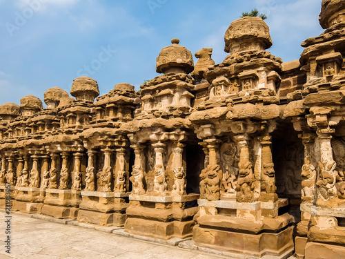 Tuinposter Bedehuis View of Kailasanathar Temple in Kanchipuram, India.