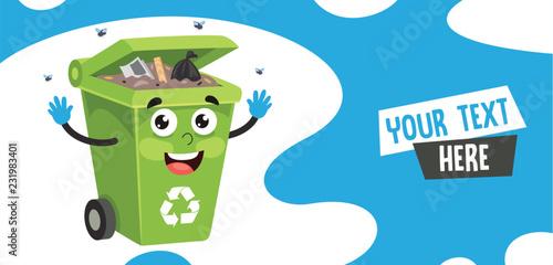 Photo Vector Illustration Of Trash Bin