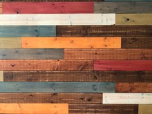 Multicolor Wooden Wall