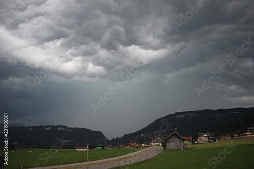 Spoed Foto op Canvas Onweer Gewittersturm