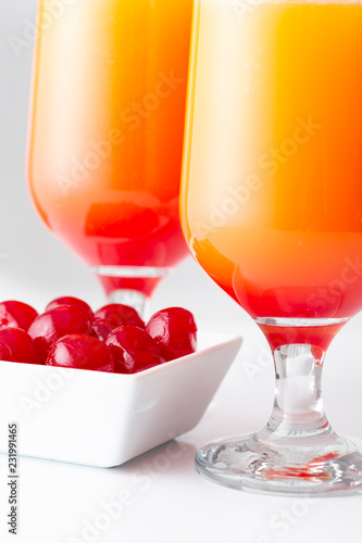 Foto op Plexiglas Cocktail Tequila sunrise cocktails