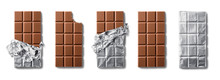 Top View Of Milk Chocolate Bar...