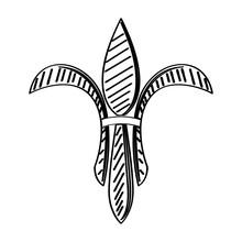 Mardi Gras Symbol. Fleur De Ly...