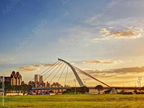 Fotografia, Obraz  Beautiful morning light in public park with green grass field