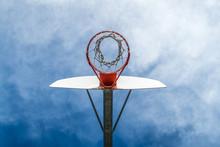 Basketball Hoop From Underneath