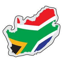 Map Of South Africa With Its F...