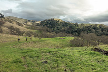 Hikers In Green Hills Country ...