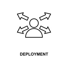 Deployment Line Icon
