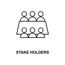 Stake Holders Line Icon