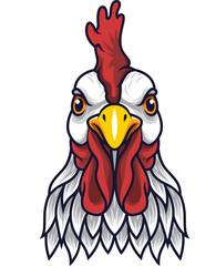 Fototapeta Zwierzęta Chicken rooster head mascot