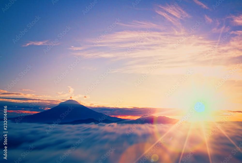 Fototapeta 富士山の初日の出