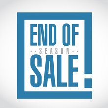 End Of Season Sale, Exclamation Box Message