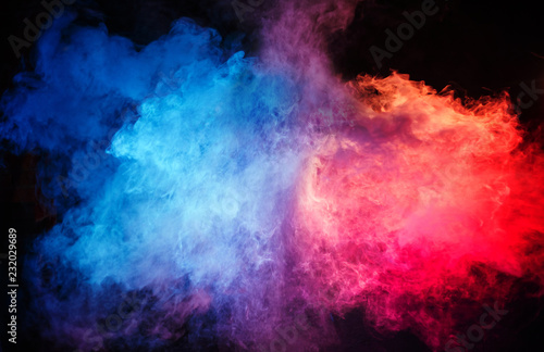 Staande foto Artist KB Abstract - colorful cloud of dust and fume