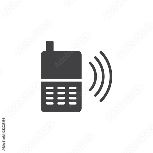Foto  Calling phone vector icon