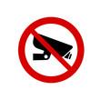 No rectangle CCTV allowed icon