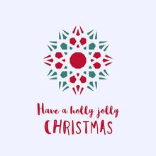 Christmas Greeting Card With G...