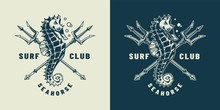 Vintage Monochrome Nautical Logo