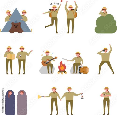 Obraz na płótnie Explorer character set