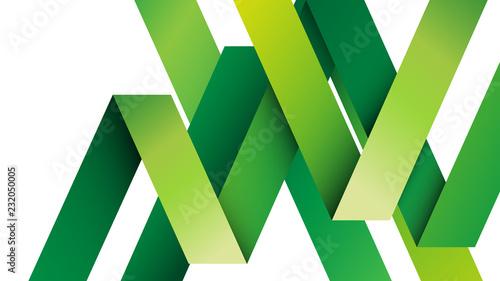 zielone wstęgi tło wektor - fototapety na wymiar