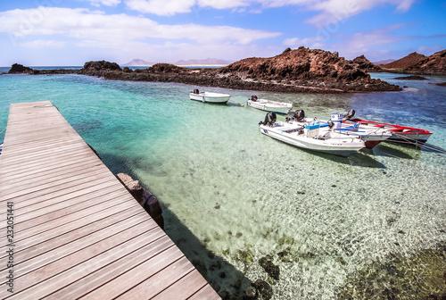 atlantic lagoon with boat