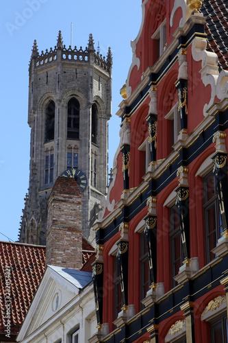 Foto op Plexiglas Brugge Fassade in Brügge