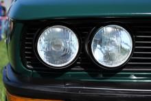 Double Headlamp Of A Retro Bus...