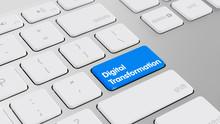 Digitaler Wandel Konzept Mit Taste Auf Tastatur