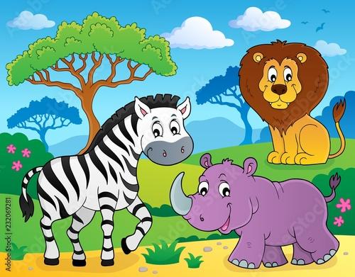 Staande foto Voor kinderen African nature theme image 4