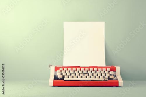 Vintage red typewriter