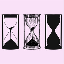 Hourglass Vector Silhouette