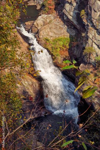 Poster Chocoladebruin Tempesta Falls at Tallulah Gorge State Park Blue Ridge Mountains