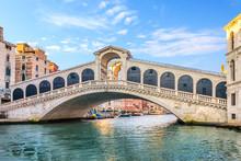 The Rialto Bridge, Beautiful Tourist Attraction Of Venice