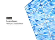 Blue Abstract Geometric Busine...