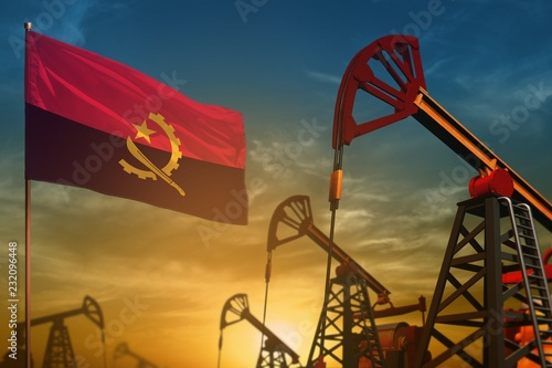 Angola oil industry concept Wallpaper Mural
