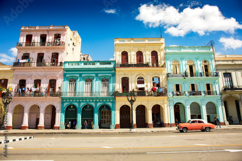 Canvas Prints Havana Colonial buildings in Havana, Cuba (High resolution)