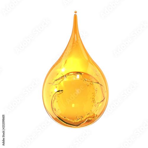 Fototapeta Olive or engine Oil drop isolate on white background. obraz