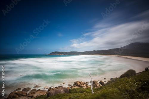 Fényképezés  Long exposure of beautiful Norman beach in Wilsons promontory national park, vic