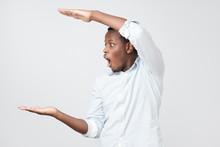 Afro American Man Gesturing Wi...