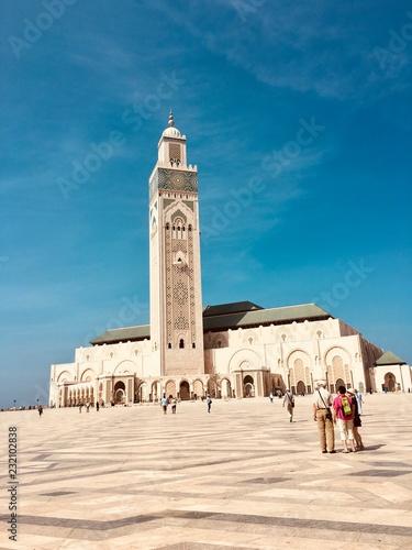 Spoed Foto op Canvas Marokko Grande mosquée de Casablanca