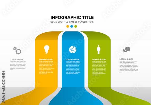 Cuadros en Lienzo Vector multipurpose Infographic template