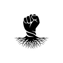 Hand Fist And Root Logo Design Inspiration - Rebel Logo Design Inspiration