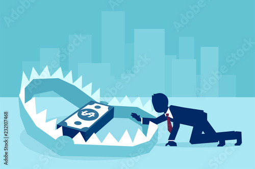 Fotografia, Obraz Concept of money trap in business