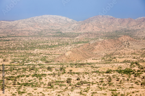 Fotografija Aerial view of desert land in the borderlands between Ethiopia and Somalia