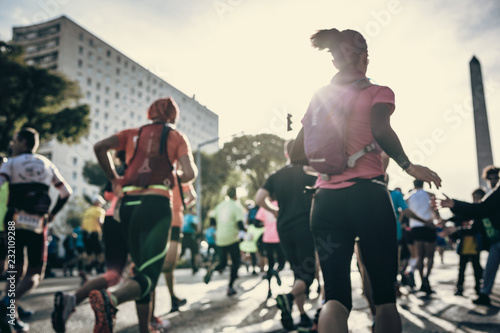 Marathon runners in city - Semi-Marathon Marseille Cassis 2018