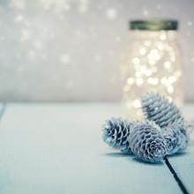 Christmas Fairy Lights In A Ma...
