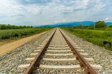Railroad Tracks Leading To End...