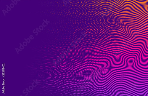 Abstract vector background. Halftone gradient gradation. Vibrant  trendy texture, with blending colors.