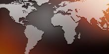 Silberne Weltkarte Raster