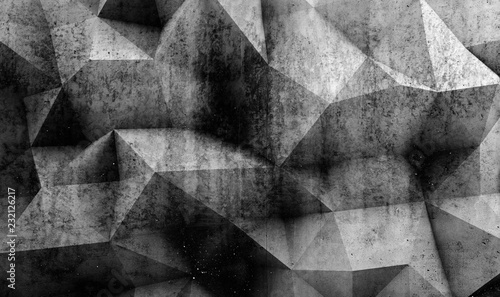 Poster Retro Abstract concrete background texture 3d