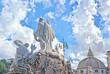 Leinwandbild Motiv Sculptures and churches on Piazza del Popolo - Rome Italy